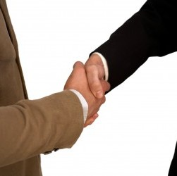 Isolated Handshake in high resolution